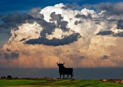 Toro y tormenta / Storm and bull ad, Spain.