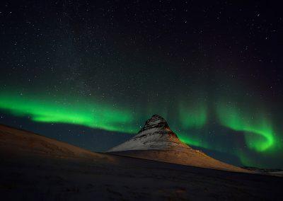 Auroras boreales, Islandia.