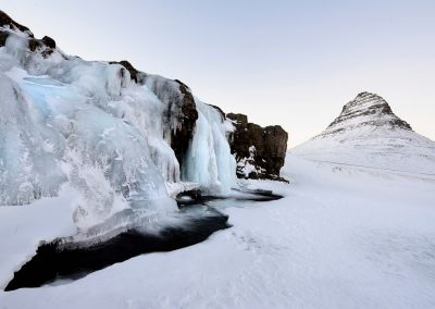 Icy waterfalls, Iceland