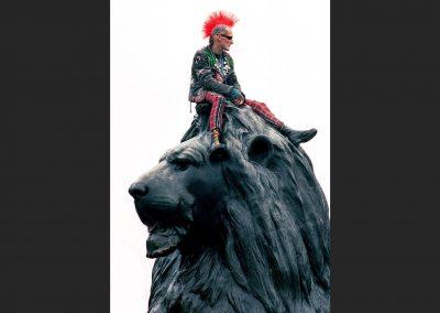 Punk, Trafalgar Square, London.