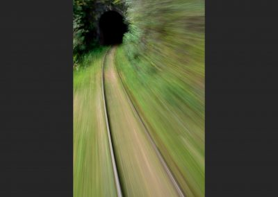 Tunel en el tren de la selva / Tunnel on the jungle train, Madagascar.