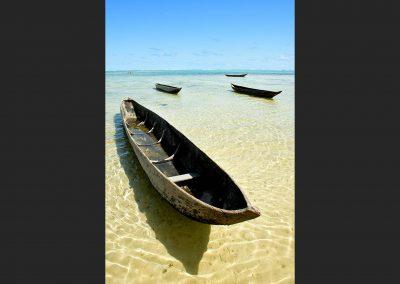 Canoas / canoes, ile Saint Marie, Madagascar.
