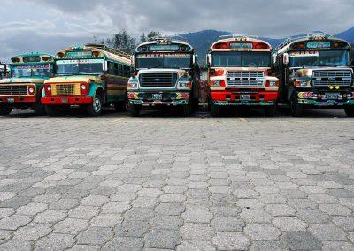 Estación de autobuses / Bus station, Guatemala.
