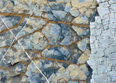 Flysch rock, Coasta Vasca, Spain.