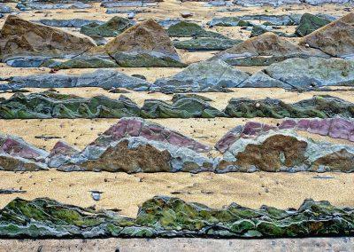 Colas de dragon / dragon tails, Flysch Coast, Zumaia, Spain.