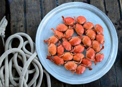 Bandeja de cangrejos / Crab tray, Nosy be, Madagascar.