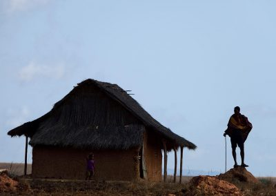 Aldea / village in Madagascar.