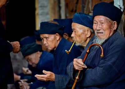 Ancianos / elderly, Village in Southteast China