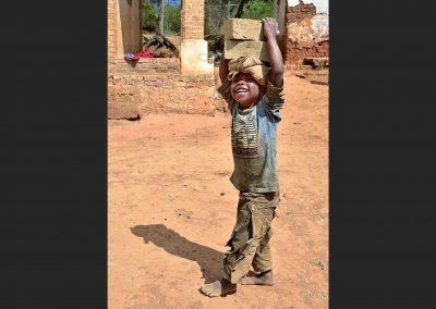 Boy in village, Madagascar