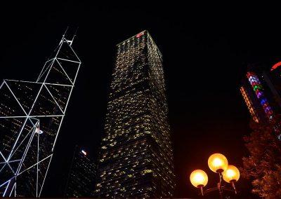 Hong Kong at night, China.