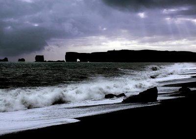 Black sand beach, Iceland.