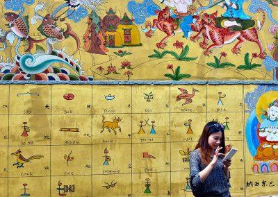Fachada / facade, Kunming, China.