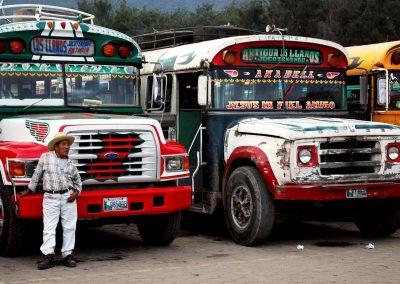 Estacion de autobuses / Bus station, Antigua, Guatemala.