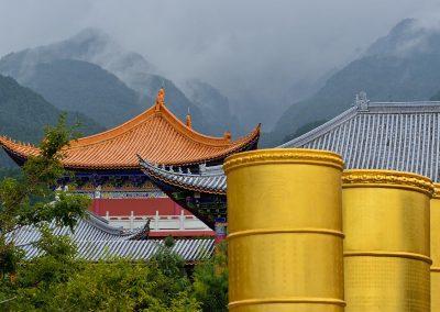 Monasterio en China.