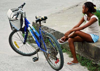 Girl in village of Costa Rica.