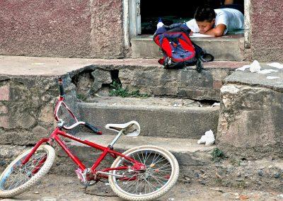Boy in village, Costa Rica