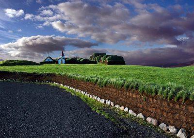 Village in Iceland.