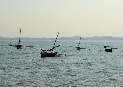 Canoas típicas / tipical canoes, Nosy Be, Madagascar