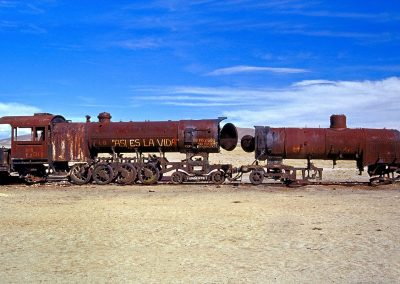 Cementerio de trenes, Altiplano boliviano