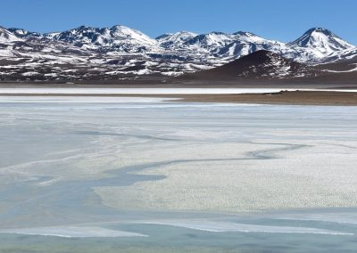 Laguna blanca, Altiplano boliviano.